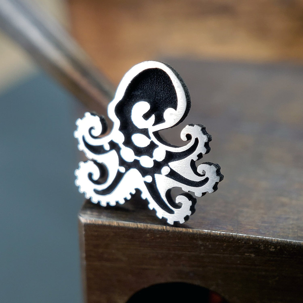 Metal Lotus Nose Stud Silver Octopus Nose Stud - Design #2