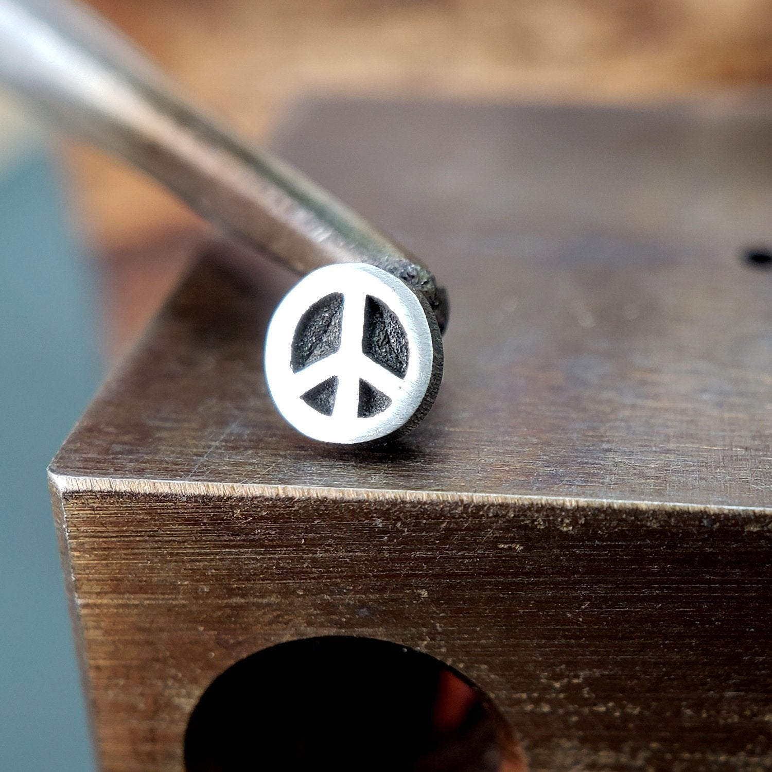 Metal Lotus Nose Stud Silver Peace Sign Nose Stud