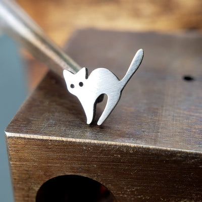 Metal Lotus Nose Stud Silver Spooked Cat Nose Stud