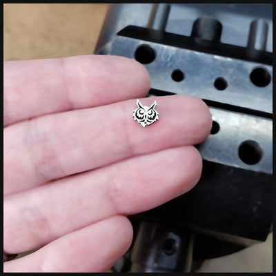 Metal Lotus Nose Stud Sterling Silver Owl Head Nose Stud