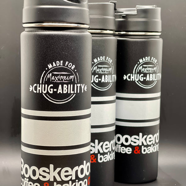 """Maximum Chugability"" 20 oz Boosk Stainless Steel Traveler"