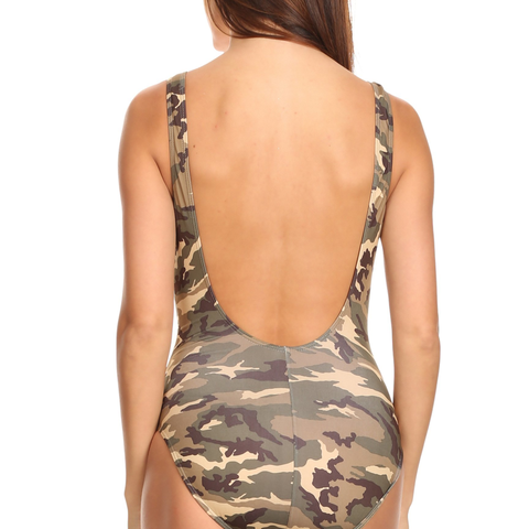 Women's 1-Piece Camo Bikini Camouflage Swimwear Made in the USA