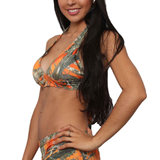 Women's Orange True Timber Halter Top & Hot Shorts Swimwear