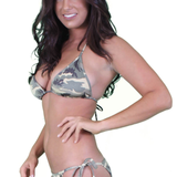 Women's Juniors Brazilian Cut Camo Bikini Set Swimwear Made in the USA