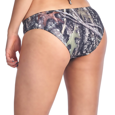 Women's Green Camo Bikini True Timber Basic Bottoms Only Swimwear
