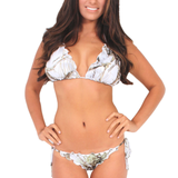 Women's Camo Bikini True Timber Ruffled Swimsuit: WHITE Made in the USA