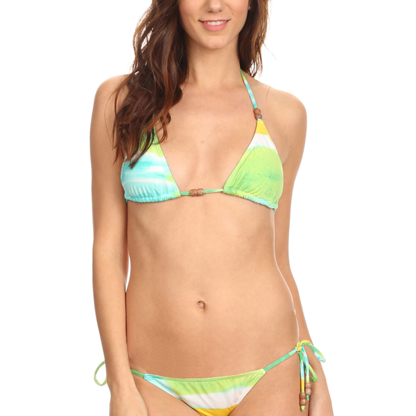 Women's 2 Piece Bikini Mix & Match Sky Printed Beach Swimwear Made in USA