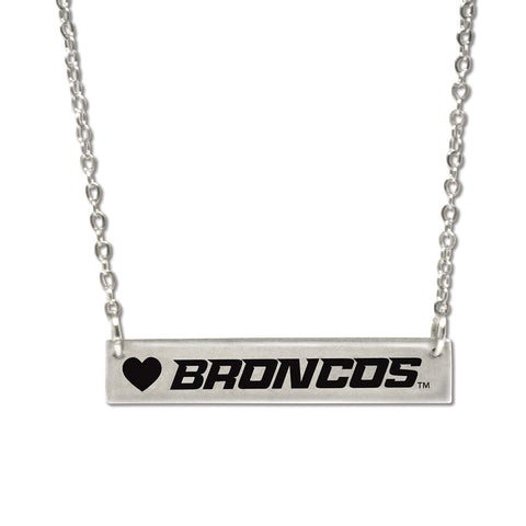 Boise State Bar Necklace
