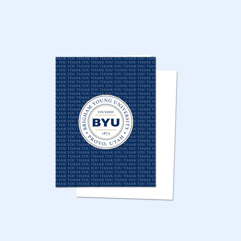 Blue BYU Thank You Card (10 Pack)