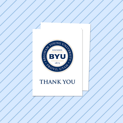 White BYU Thank You Card (10 Pack)