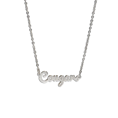 BYU Cougars Script Necklace