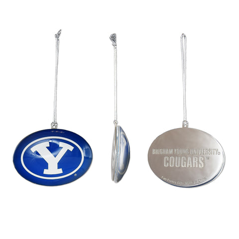 BYU Glass Y Logo Ornament