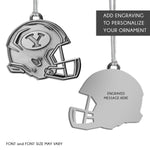 BYU Brigham Young University Metal Helmet Ornament
