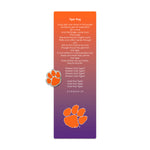 Clemson Bookmark with Pin
