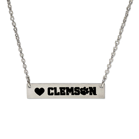 Clemson Bar Necklace