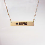 COLORADO BUFFALOES BAR NECKLACE