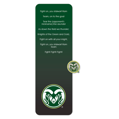 Colorado St Bookmark and Pin