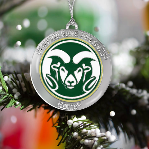 Colorado State Rams Metal Ornament
