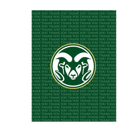 Colorado State Thank You Card 10 Pack Green Ram