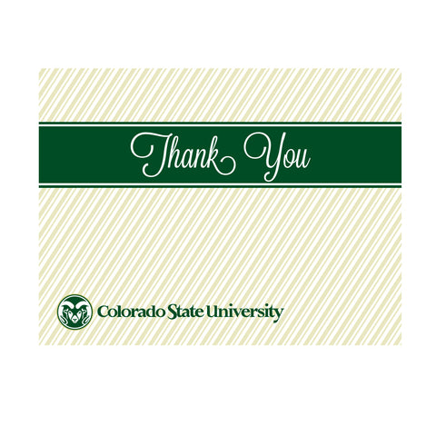 Colorado State Rams Thank You Card 10 Pack Gold Script