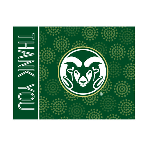 Colorado State Rams Thank You Card 10 Pack Green Inline