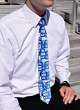 BYU Logos Pattern Men's Tie