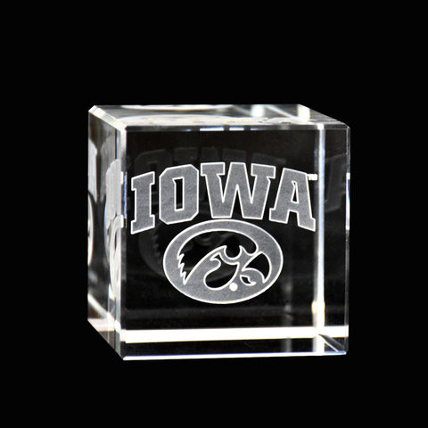 Iowa Hawkeyes Crystal Cube