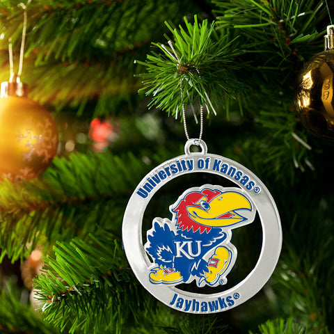 University Of Kansas Jayhawks Decorative Ornament