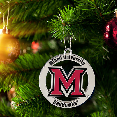 Miami University Redhawks Ornament