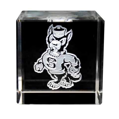 NC State Crystal Wolf Pack Cube