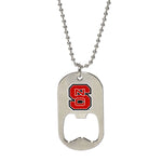 NC State Dog Tag Bottle Opener