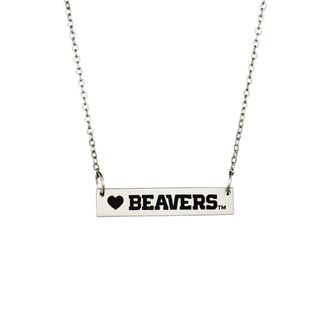 Oregon St. Bar Necklace