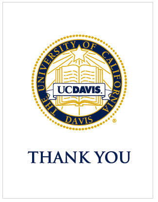 White Crest UC Davis Thank You Card 10 Pack