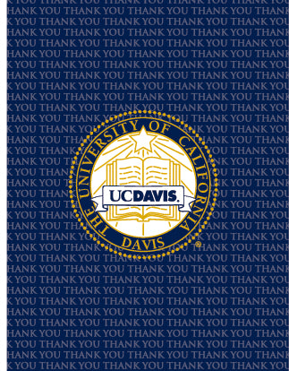 Blue Crest UC Davis Thank You Card 10 Pack