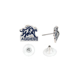 Utah State Post Earrings