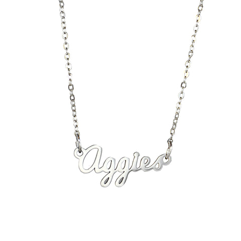 Aggies Script Necklace