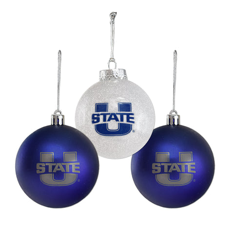 Utah State Bulb Ornament set