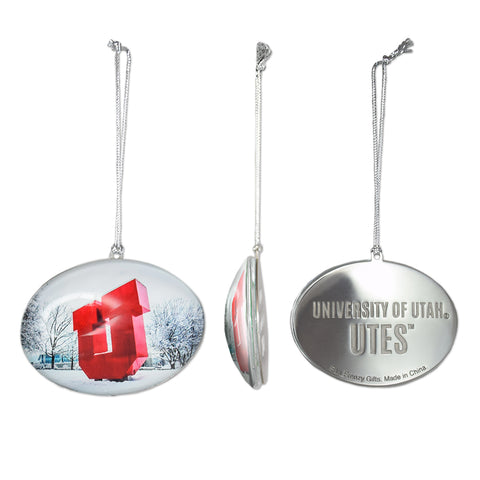 University of Utah Glass U Statue Ornament