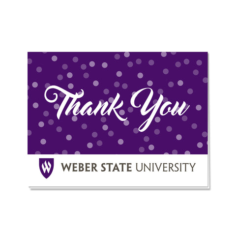 Weber State Dots Thank You Card