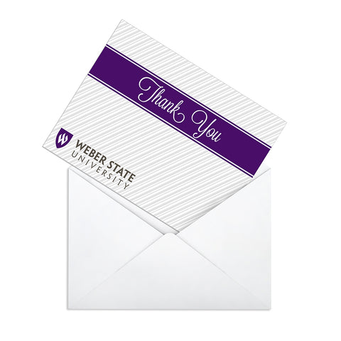 Weber State Cursive Thank You Card