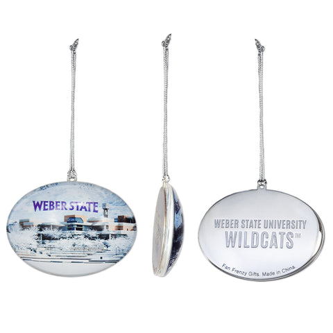 Weber State Campus Glass Ornament