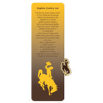 Wyoming Bookmark and Pin