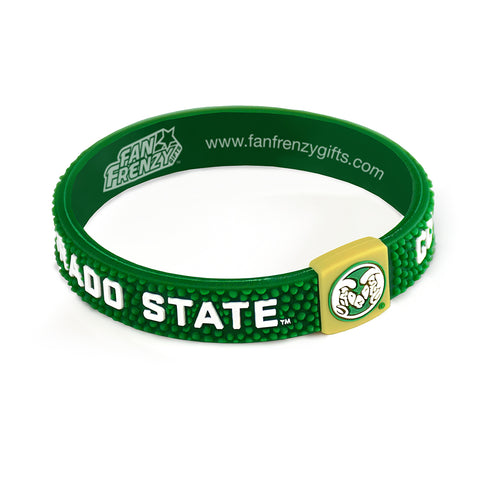Colorado State Rams Pebble Silicone Bracelet