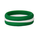 Green/White Stackable Silicone Ring