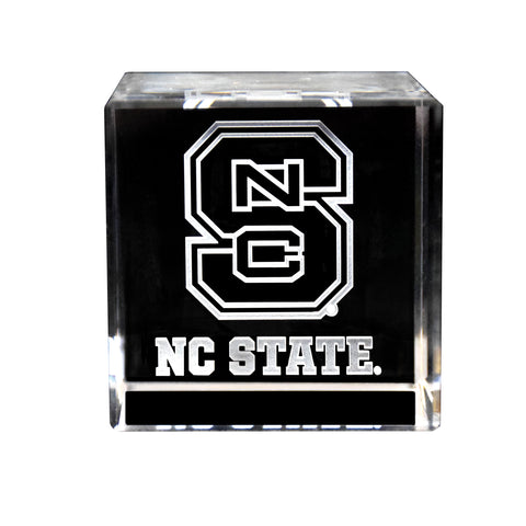 NC State Logo Crystal Cube