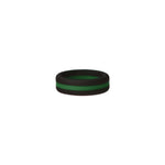 Black/Green Stripe Silicone Ring
