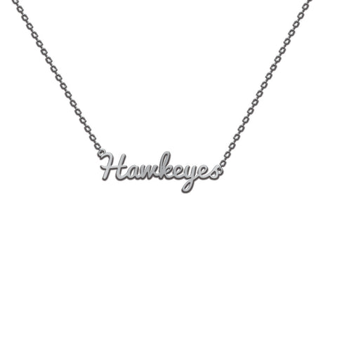 IOWA HAWKEYES SCRIPT NECKLACE