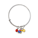 University of Kansas Jayhawks Bangle Bracelet