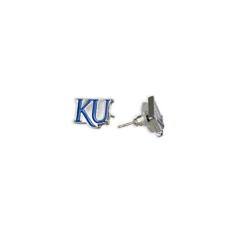 University Of Kansas Jayhawks KU Post Earrings