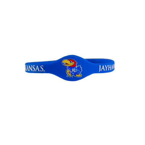 University Of Kansas Jayhawks Blue Silicone Bracelets